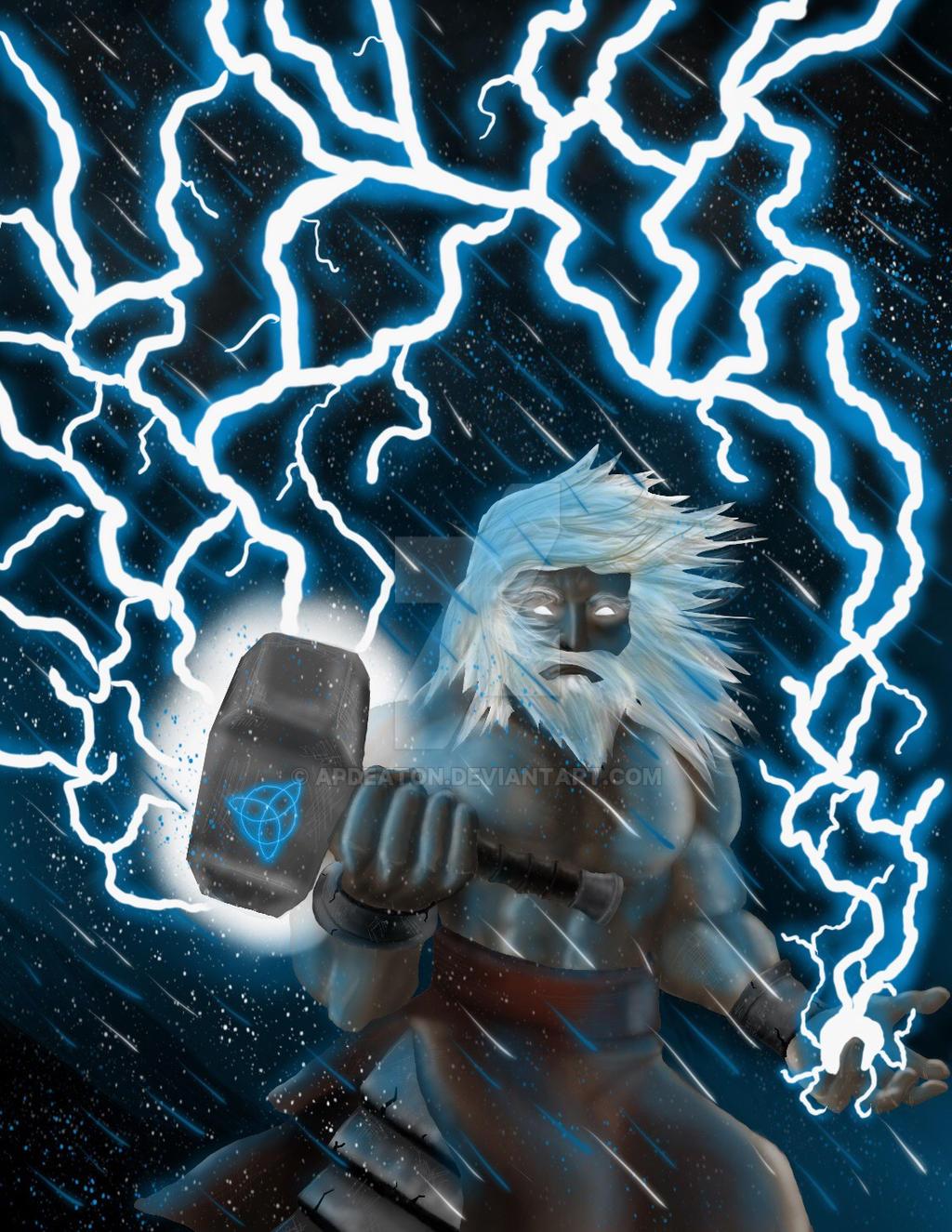 artwork gods lightning marvel - photo #11