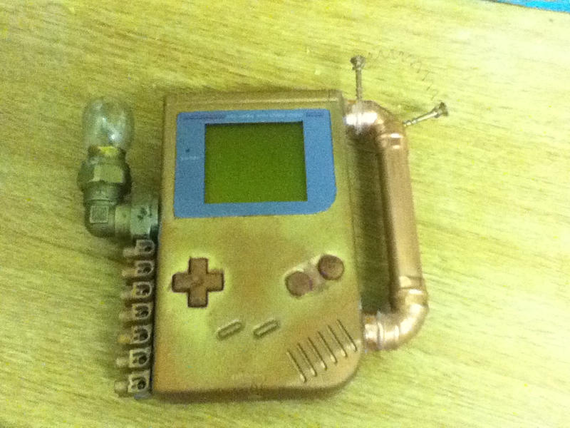 Steampunk Gameboy V1 by LordDelightfullyMad