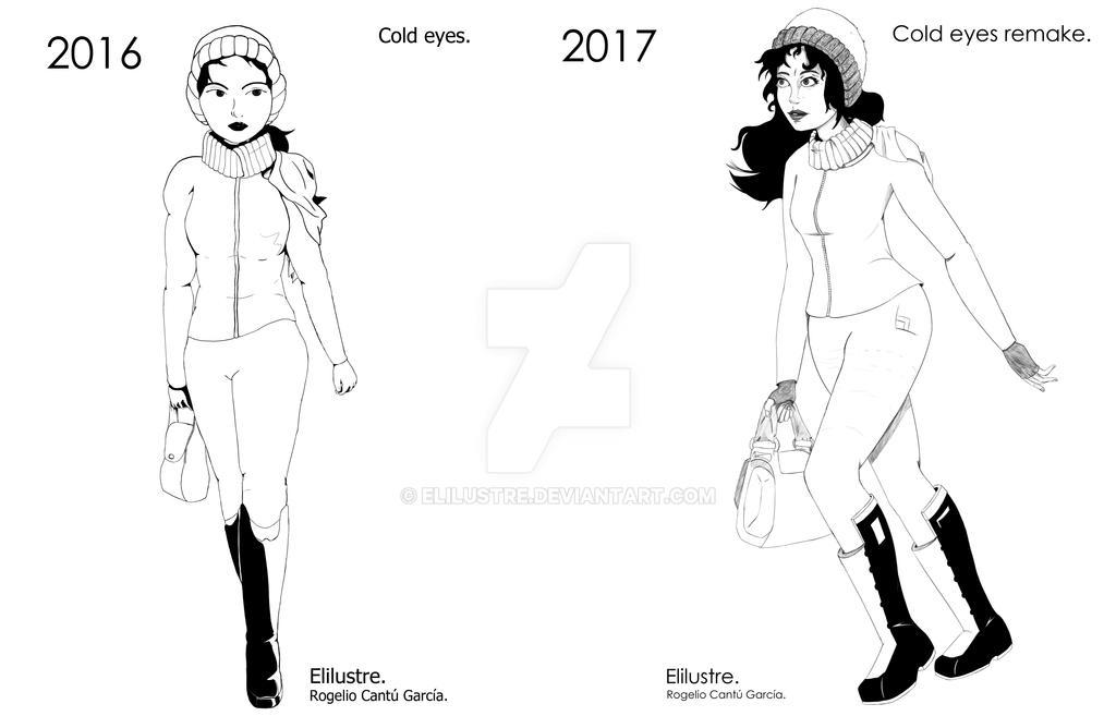 Cold eyes old and remake. by Elilustre