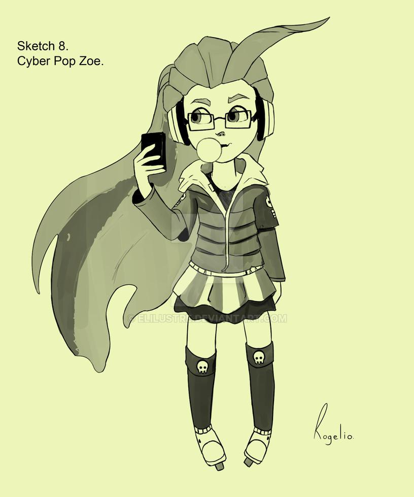 Sketch 8. Cyber Pop Zoe. by Elilustre