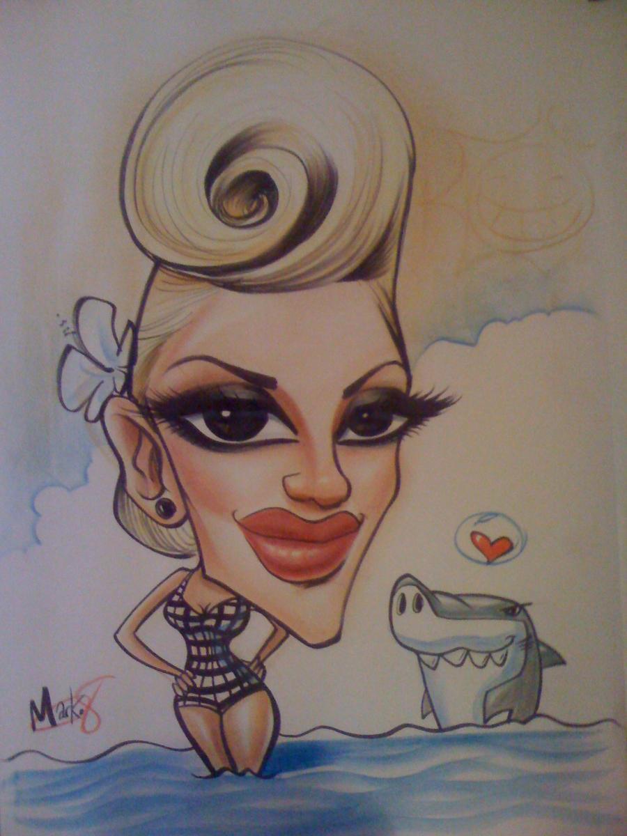 Gwen Steffani caricature by marcocano