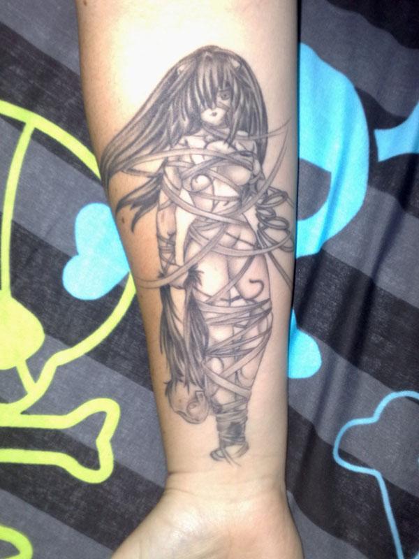 Manga Tattoo - Lucy Elfen Lied by imagine-nation