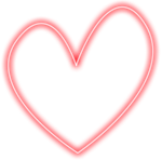 Heart Glow Frame png [7]