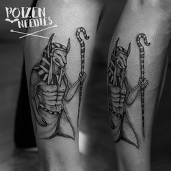 Anubis tattoo by akne5