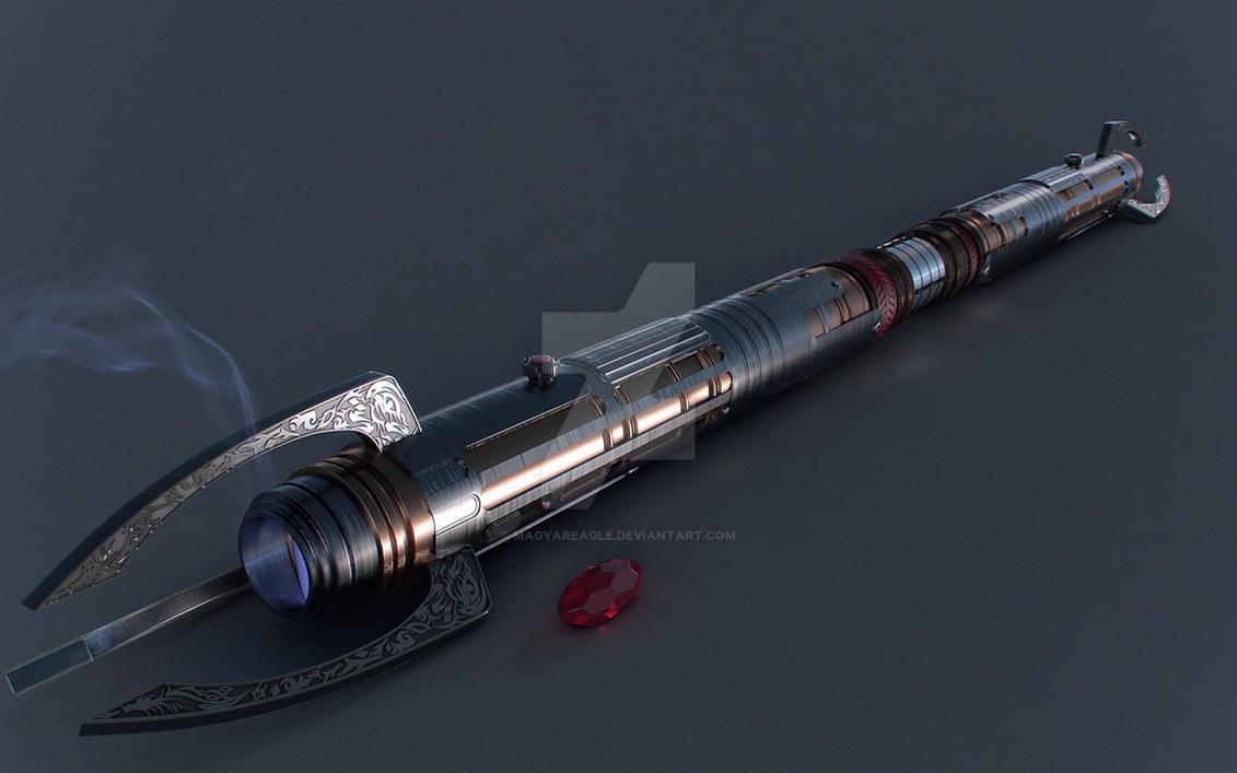 Darth Kration's Lightsaber -Commission- by MagyarEagle
