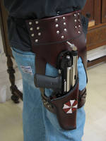 Leather Resident Evil Holster by Kristov-Gregoriovich