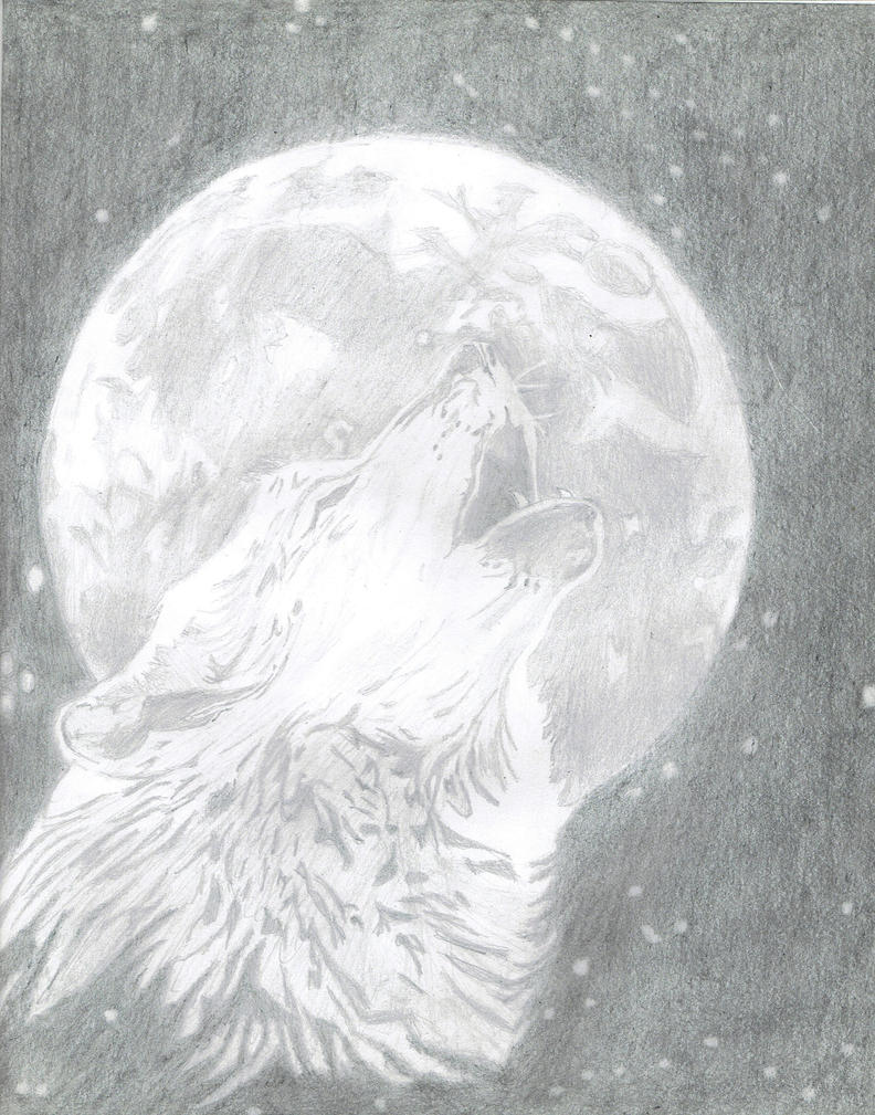 Awesome Wolf Howling By Ivan Alta