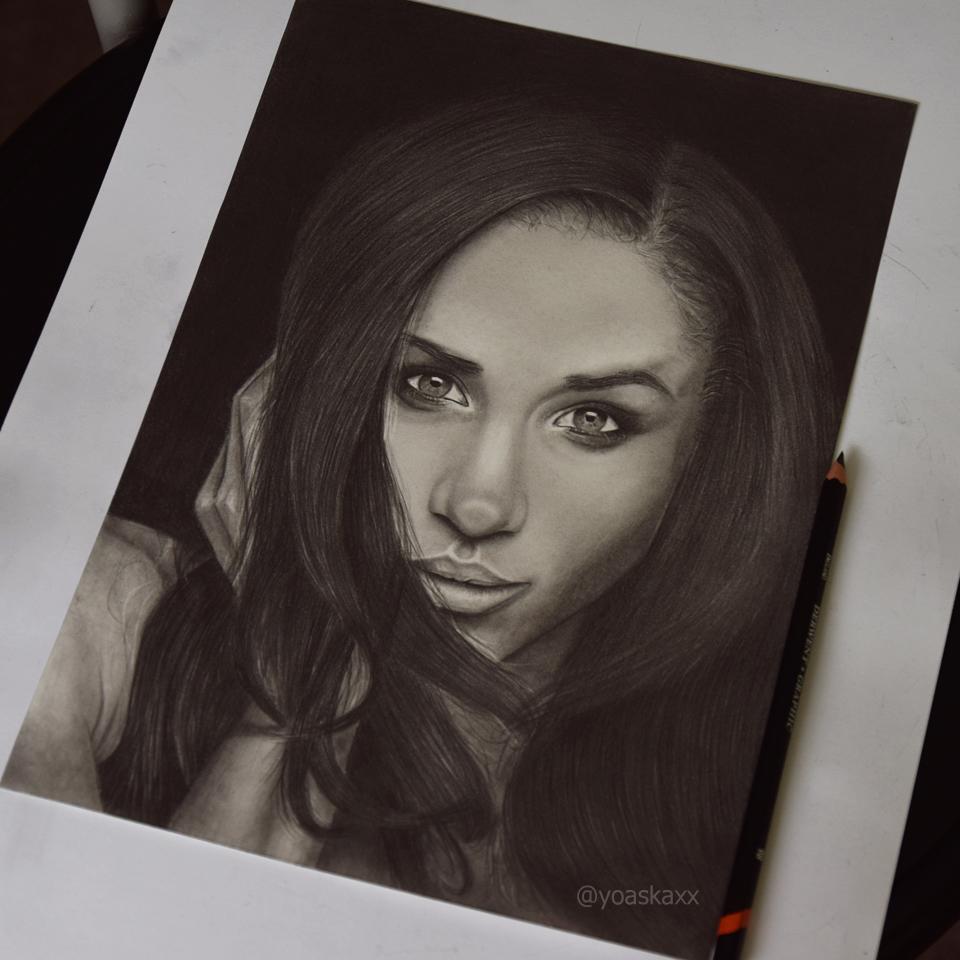 Meghan Markle || Portrait Drawing by yoaskaxx