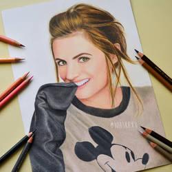 Stana Katic    Portrait Drawing by yoaskaxx