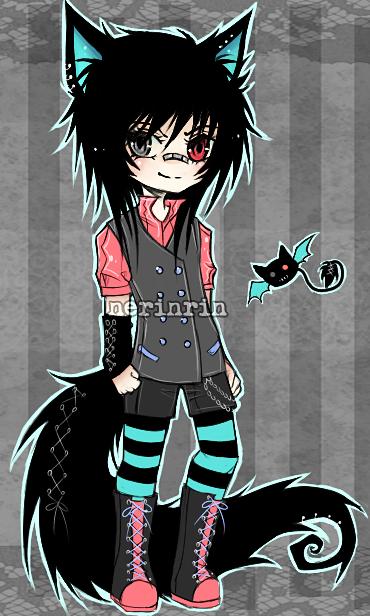 Demon Neko Adopt #04 [CLOSED] by nerinrin