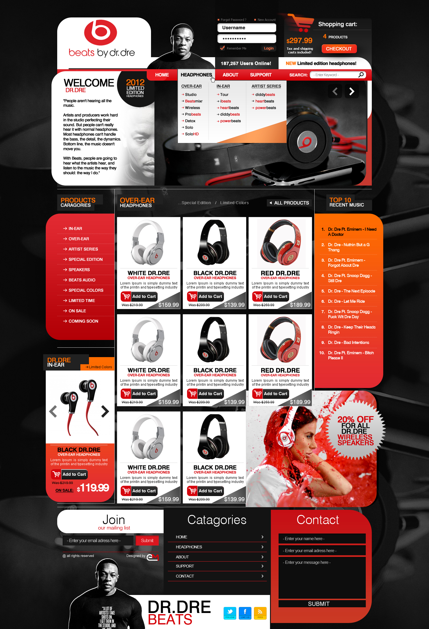 IMAGINARY Dr.Dre store website by Elad-M