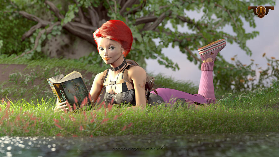 Reading in the Sun by TargetView