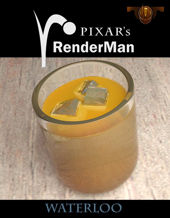 Waterloo Liquid shader Pixar Renderman by TargetView