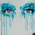Watercolor eyes-anemone