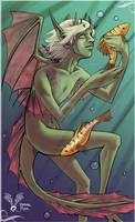 oO Ishia and the fishies Oo by LainDragon