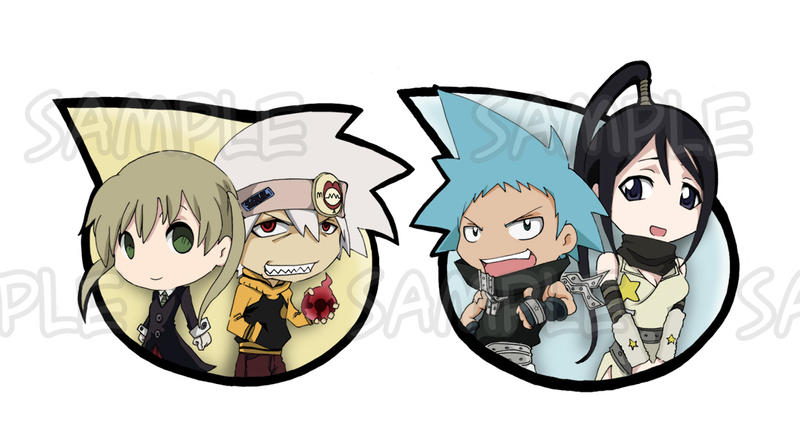 Soul Eater Keychains Couple by Letucse
