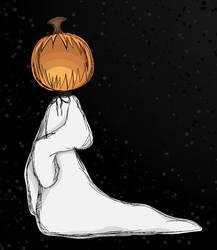 ghosty pumpkin boi by CreatureCakez