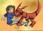 Coloured Takato and Guilmon