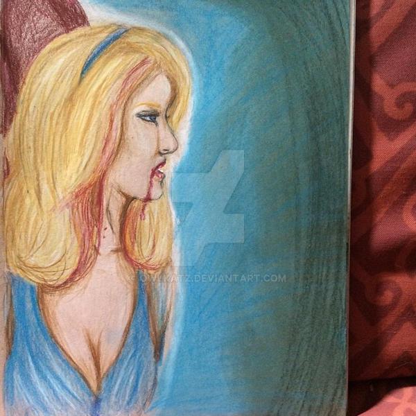 The Blue Fairy As A Vampire by owlkatz