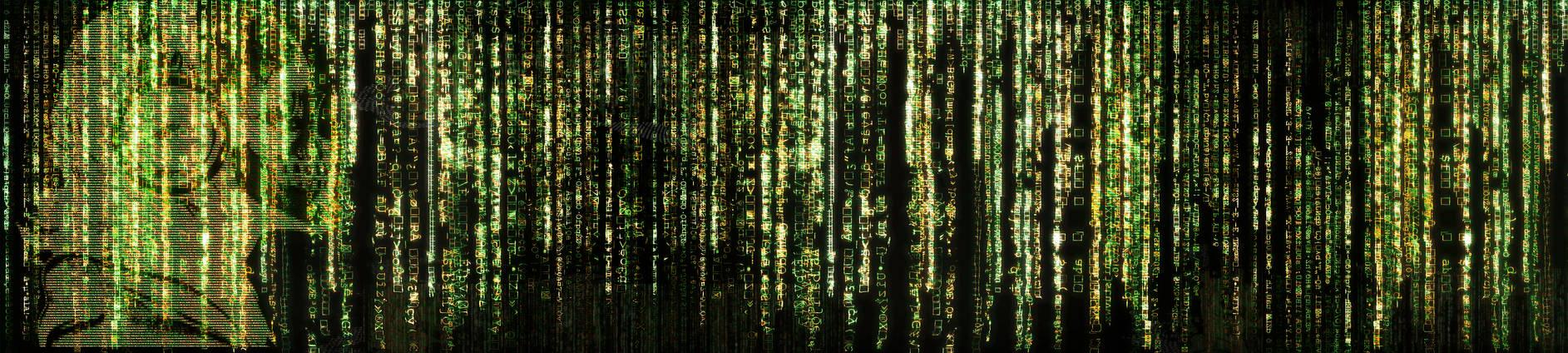 Matrix-esque Desktop Wallpaper (3 Monitor)