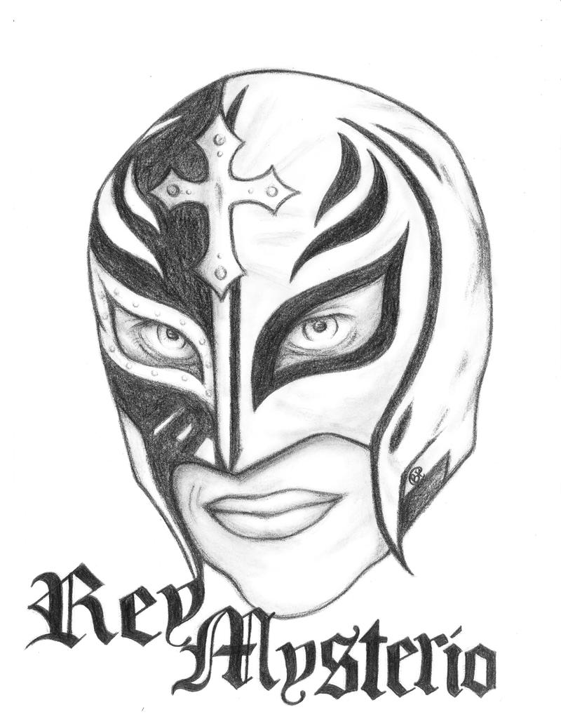 Rey Mysterio By Gg Lover On Deviantart Cara And Mysterio Coloring Pages