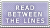 READ BETWEEN THE LINES by Saphitri