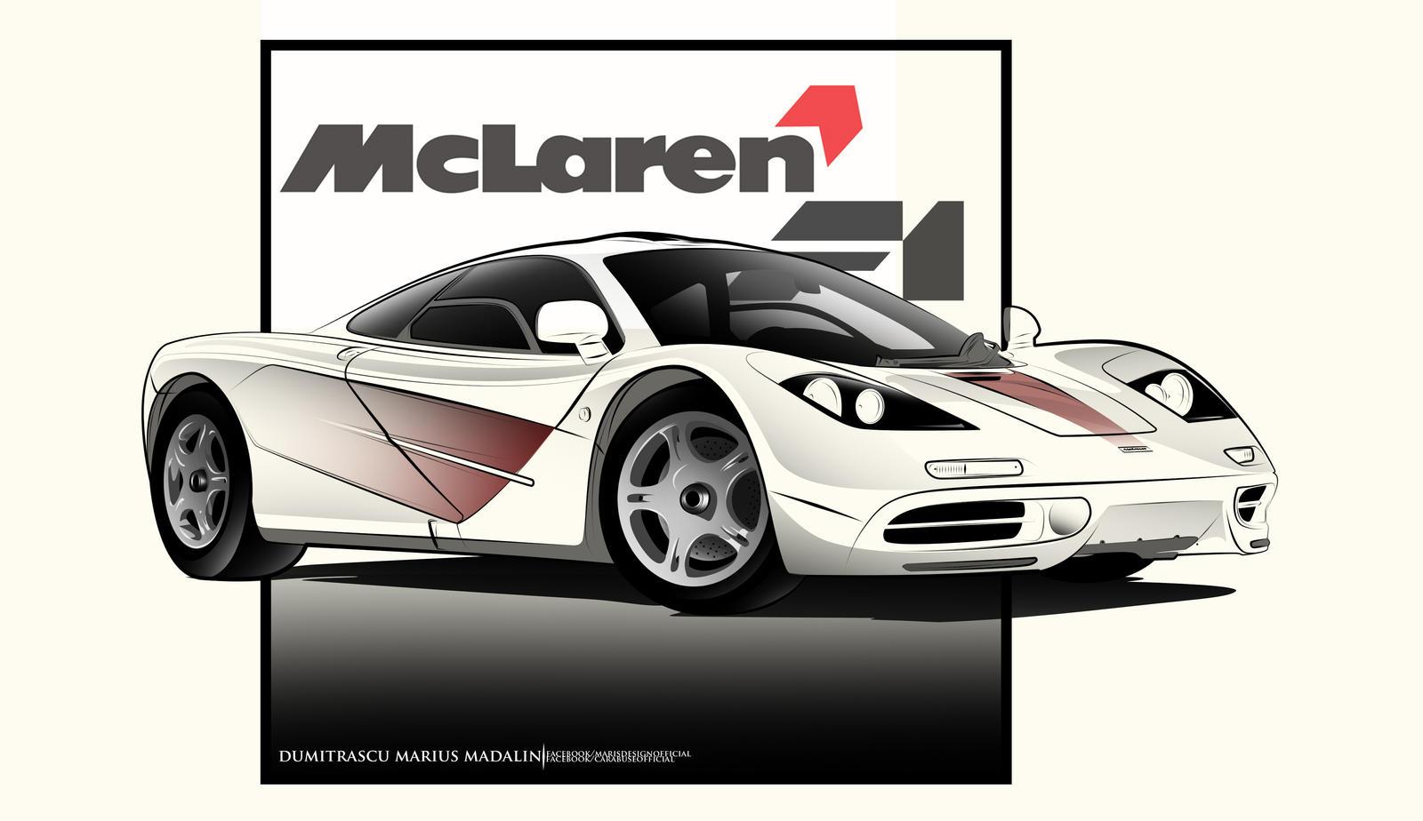 McLaren F1 LineArt by MarisDesign on DeviantArt