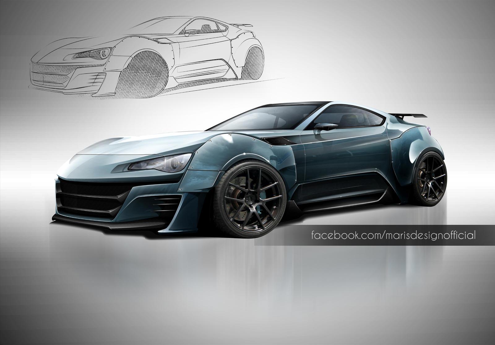 Gt86 Supercar Concept Render by MarisDesign