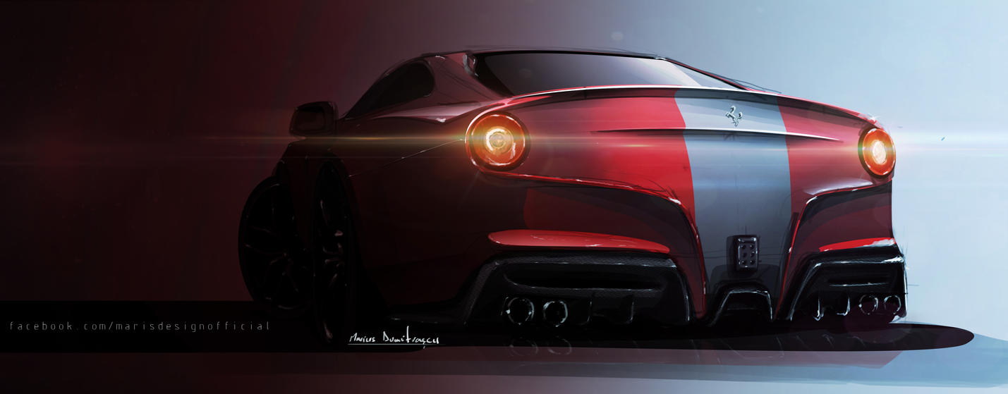 Ferrari F12 Sketch by MarisDesign