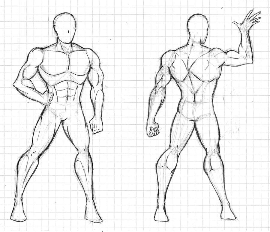 man body drawing - 900×773