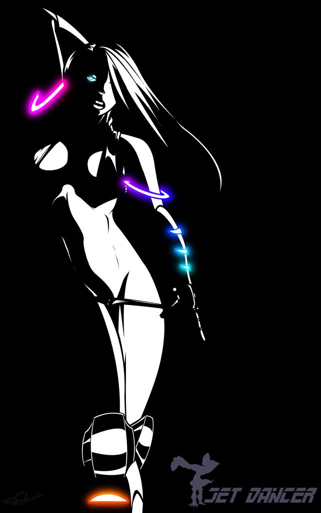 Noir Jet glowing eye by Dualmask