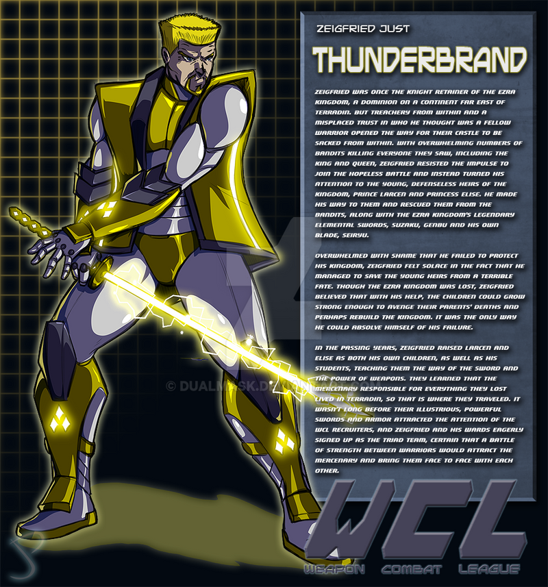 Zeigfried Just:Thunderbrand Bio by Dualmask