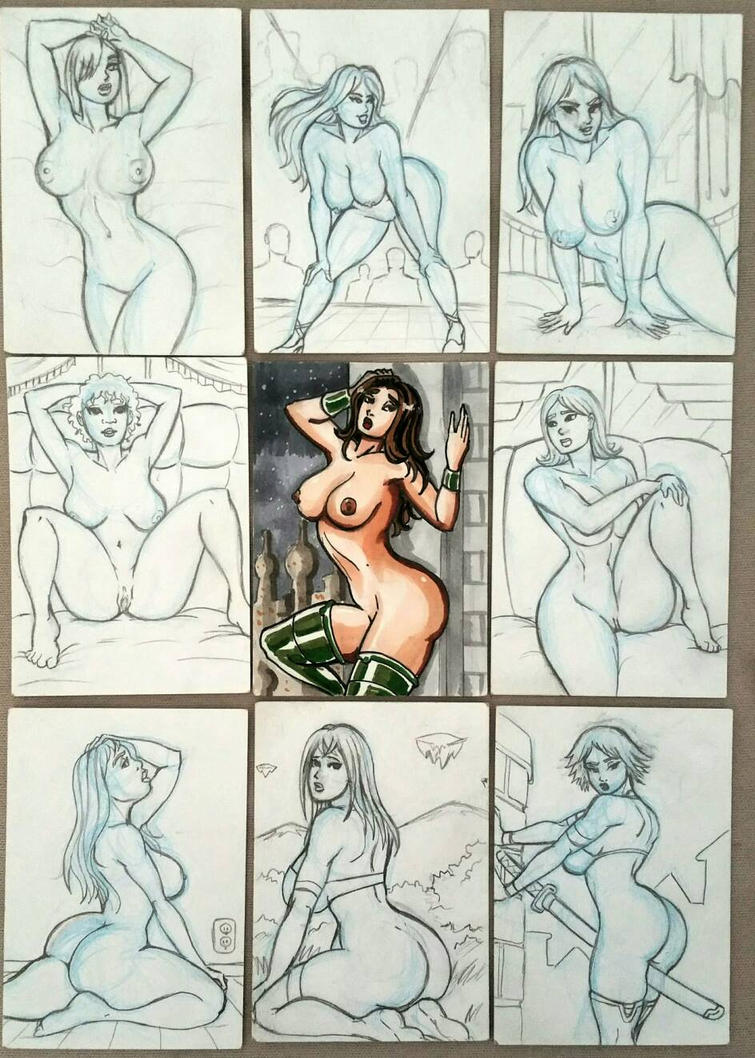 Naked Sketch Cards by Dualmask