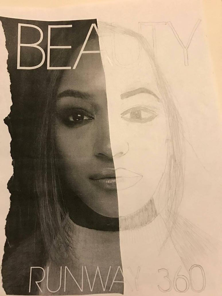 Half Portrait Drawing by RandomHope16