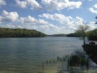 Fall Creek Lake by queenkale