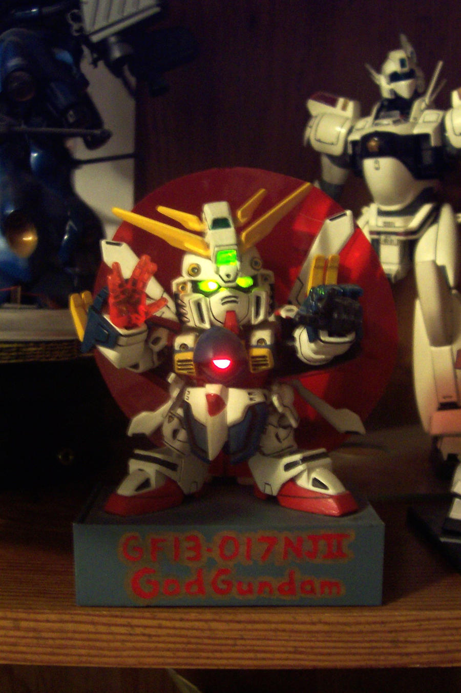 SD God Gundam Lit by HDorsettcase
