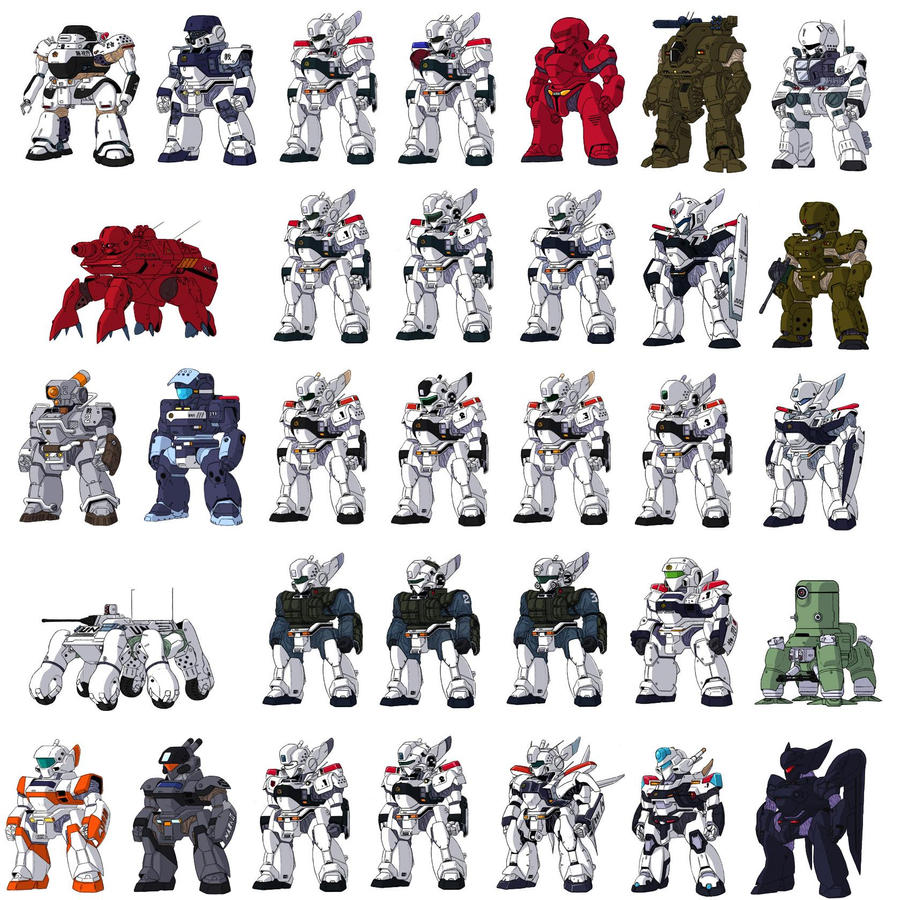 Patlabor sprites by HDorsettcase