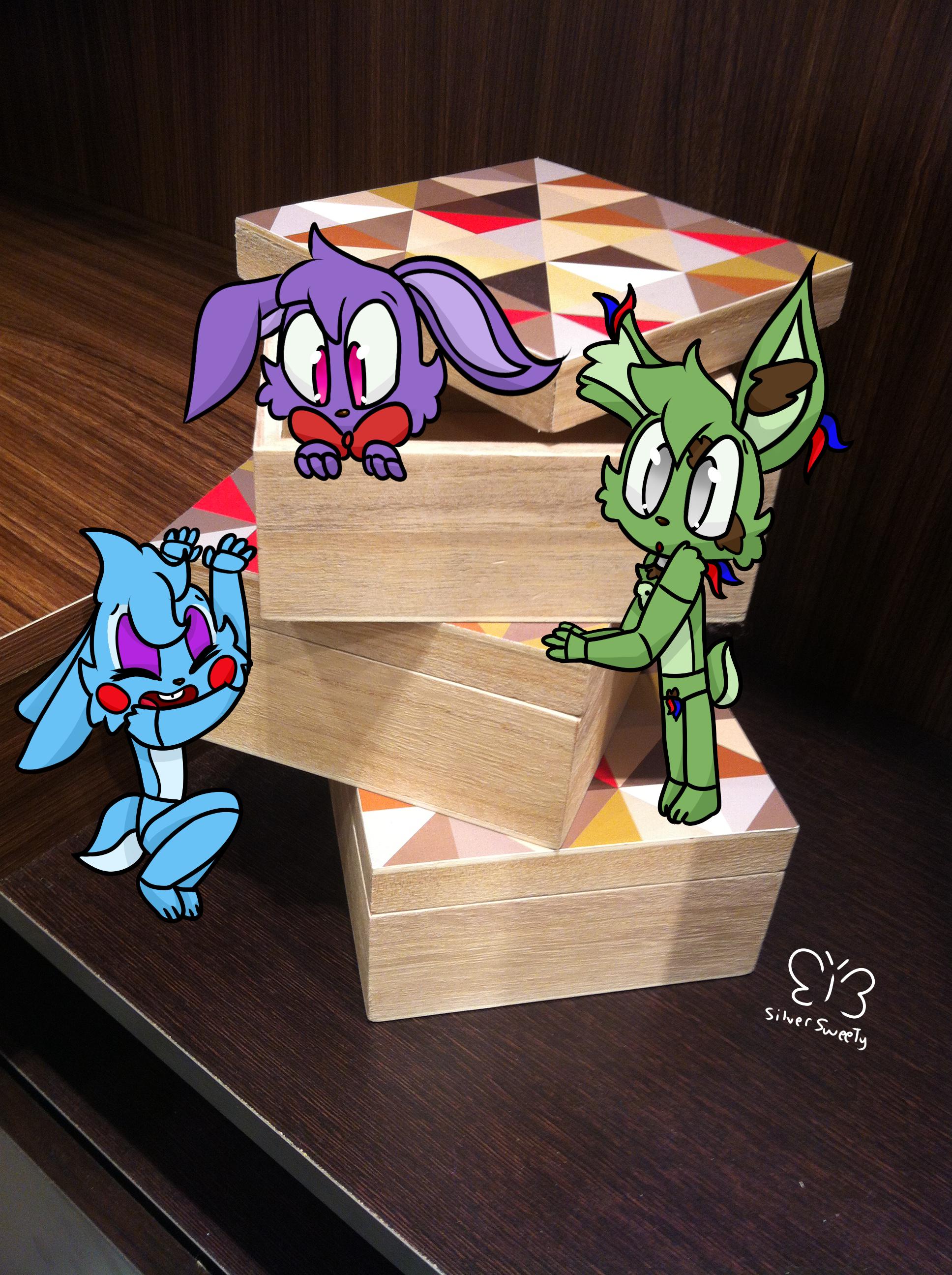 FNAF] Real life + Digital #1: Bunnies on the box! by