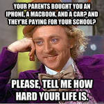 Willy Wonka, hard life meme