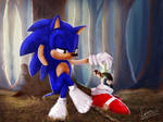 Stealing Sonic's shoes