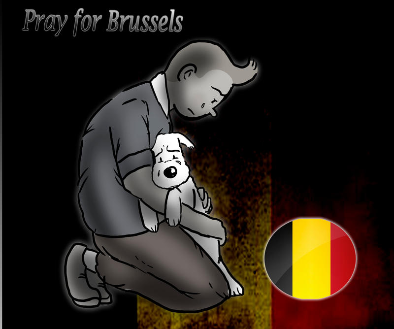 Pray for Brussels by Loorelai
