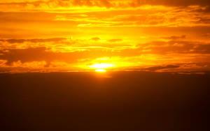 Golden Sunset Wallpaper by eddieretelj