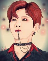 EXO Baekhyun Fanart by Iksu-V