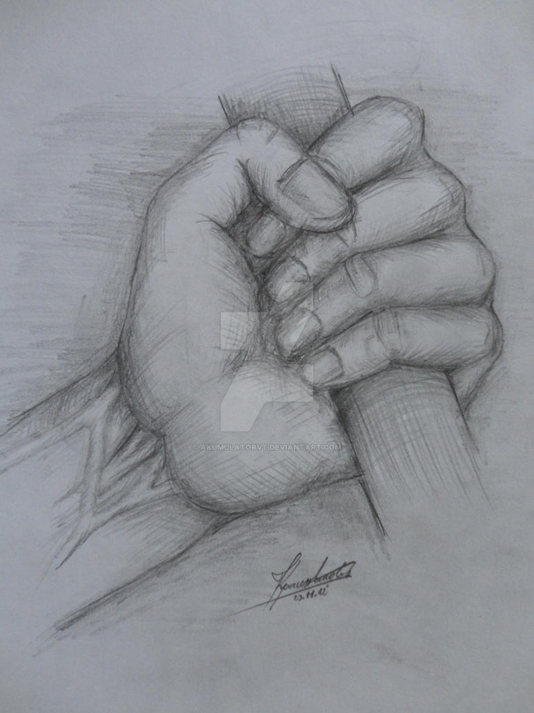 Hand Holding Stick Drawing