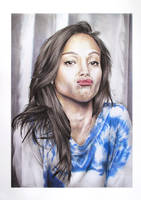 Zoe Saldana by butterflycell