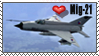 Mig-21 Fishbed Stamp by SergeanTrooper