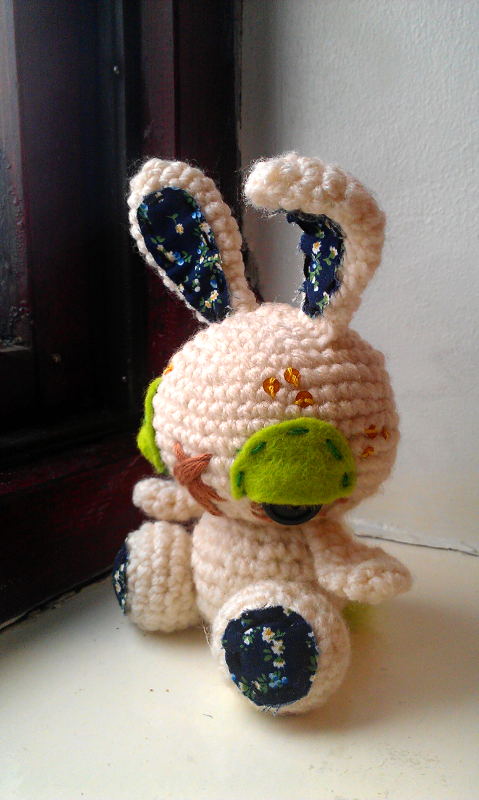 freckles - crochet bunny by tiny-tea-party