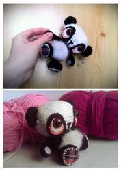 panda crochet plush. by tiny-tea-party