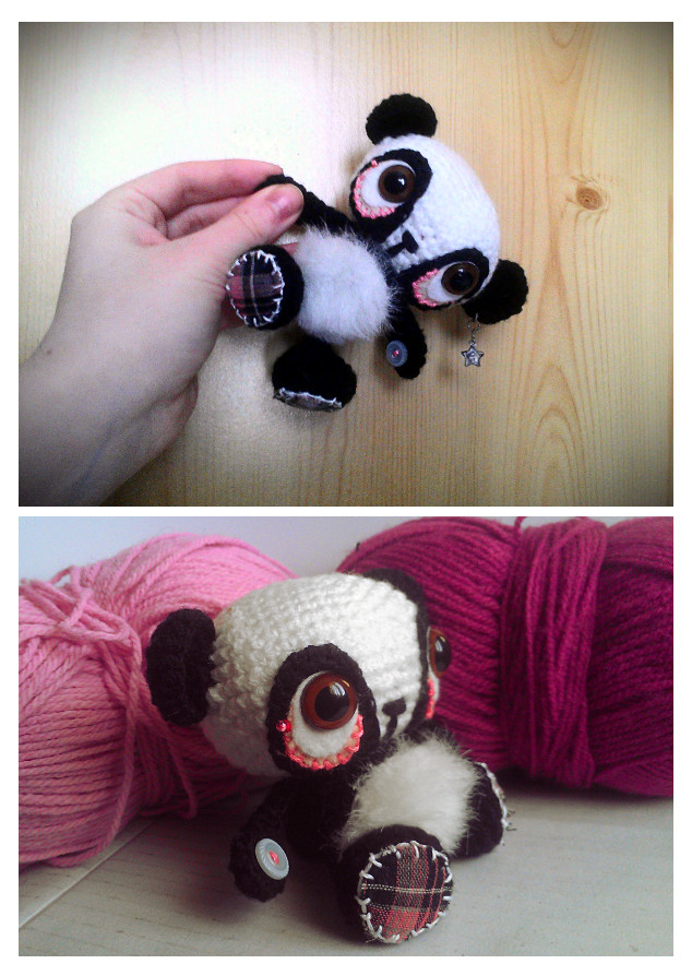 panda crochet plush. by tiny-tea-party