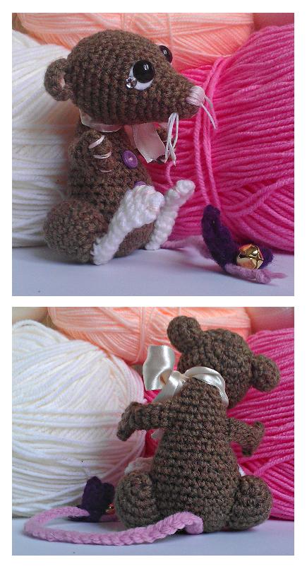 rowan rat amigurumi. art trade. by tiny-tea-party